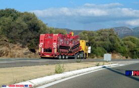 The SDIS 2B M113 MICNA loaded on a MAN TGX 18.440, Northern Corsica, 08/2016.