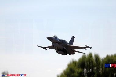The Polish Air Force 6 ELT F-16C Block 52 Fighting Falcon, NATO Tiger Meet, Zaragoza Air Force Base, 05/2016.