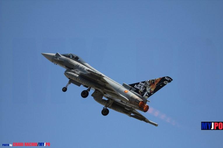 The Ejército del Aire 142 Esc EF2000 Typhoon, NATO Tiger Meet, Zaragoza Air Force Base, 05/2016.