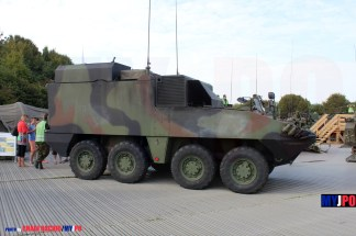 The Swiss Army Mowag 8x8 PIRANHA IIIC FHR Pz FIS/HE INTAFF at AIR14, Payerne, September 2014.