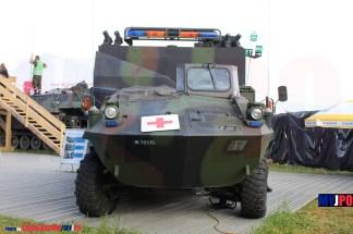 The Swiss Army Sanitätsfahrzeug Gepanzert 6x6 PIRANHA at AIR14, Payerne, September 2014.