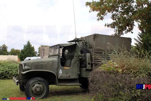 French Army GMC CKW 353 MTFP (Module de Transmissions pour Forces Projetées) shelter Memorial of the 8e Régiment de Transmissions (8e RT), Mont Valérien, Journées du Patrimoine 09/2013