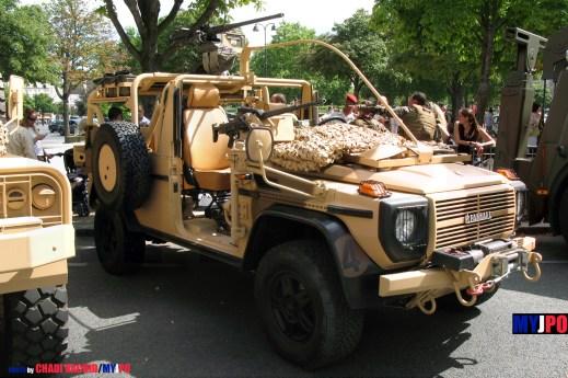 French Army Panhard VPS of the Commando Parachutiste de l'Air n°10 (CPA10), Place de la Nation, Paris, 14 juillet 2009.