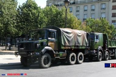 French Army Renault GBC 180 of the Unité de Commandement et de la Logistique, Esplanade des Invalides, Paris, July 14, 2009.