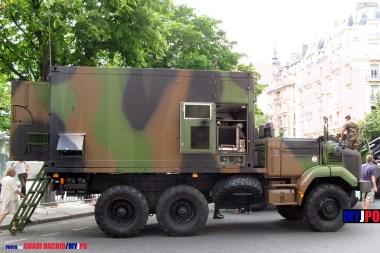 French Army Renault GBC 180 PC SIR (Système d'Information Régimentaire), Place de la Nation, Paris, July 14, 2009.