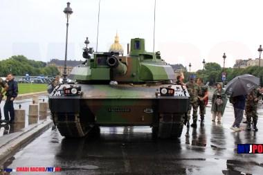 French Army Leclerc MBT of the 4e Régiment de Dragons (4e RD), Esplanade des Invalides, Paris, July 14, 2010.