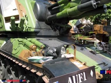 French Army AMX AuF1 TA of the 40e Régiment d'Artillerie (40e RA), Saint-Mandé, July 14, 2008.