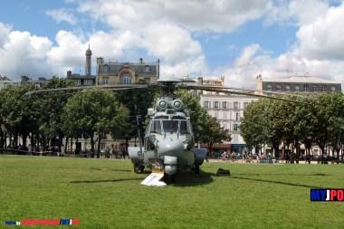French ALAT H225M/EC725AP Caracal of the 4e Régiment d'Hélicoptères des Forces Spéciales (4e RHFS), Esplanade des Invalides, Paris, July 14, 2009.