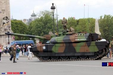 French Army Leclerc MBT of the 12e Régiment de Cuirassiers (12e RC), Esplanade des Invalides, Paris, July 14, 2011.