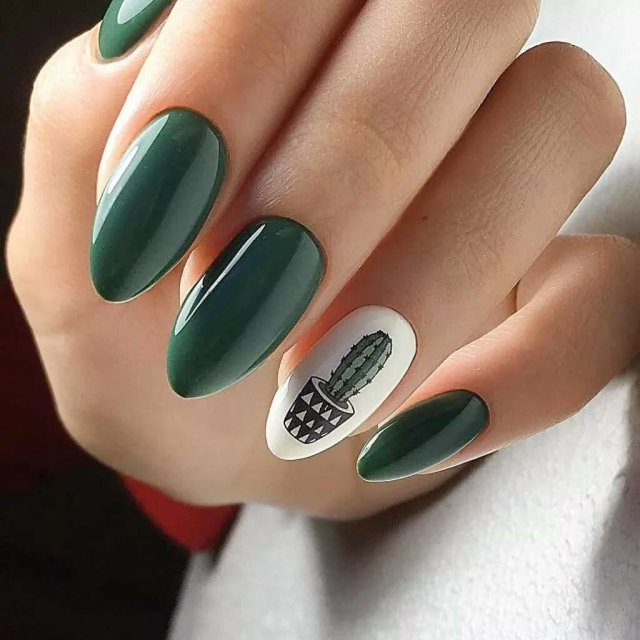 Зеленый маникюр - 10