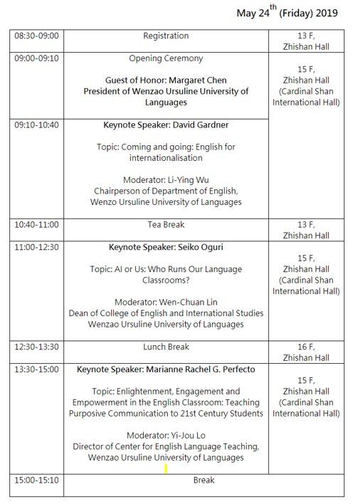 Kaohsiung Wenzao University International Conference on English Language Teaching