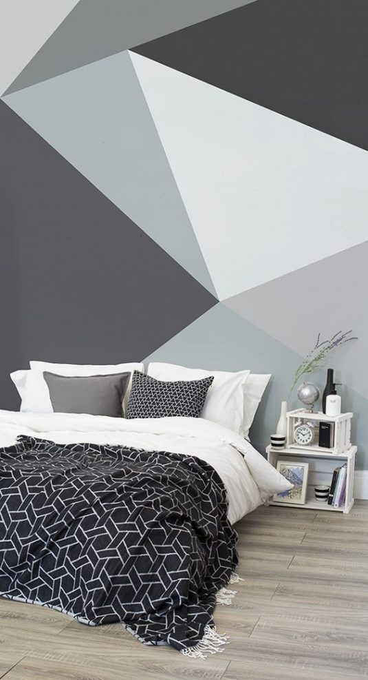 And Red Black Wall Grey Art