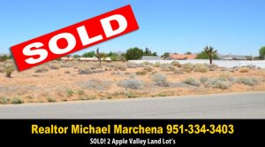 Sold Apple Valley Land Lots