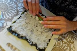 Preparando un rollo - Preparing a roll