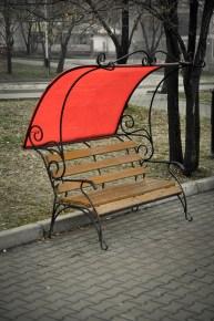 Uno de los bancos del parque - One of the park benches