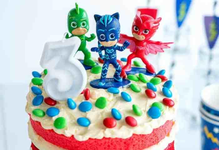 Pj Masks Cake Easy Diy Birthday Cake For Kids