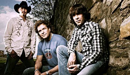 The (2008) members of Blackhawk, Michael Randall, Henry Paul, and Dave Robbins