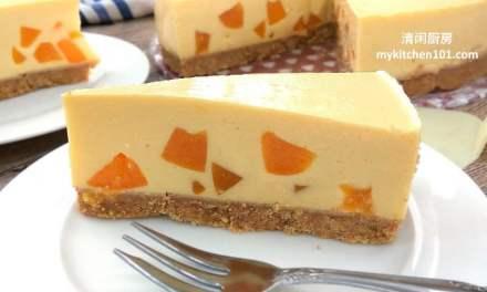 芒果蜜桃免烤芝士蛋糕