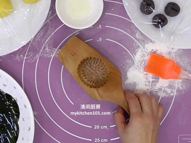 金瓜红龟糕 (紫薯馅)