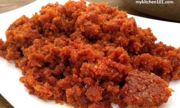 香辣叁巴虾米/Sambal 虾米