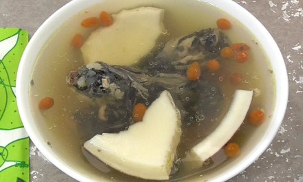 Black Silkie Chicken Soup with Coconut and American Ginseng