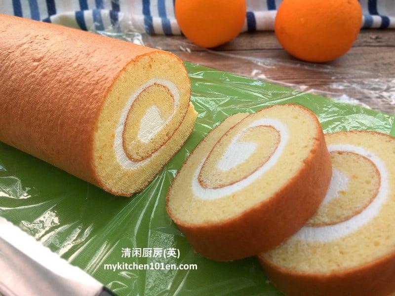 Taro Sponge Cake Roll
