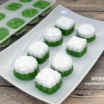 Pandan Coconut Milk Water Chestnut Pudding (Thai Tako)