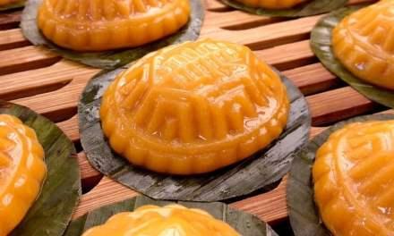 Orange Sweet Potato Angku Kuih (Peanut Filling)