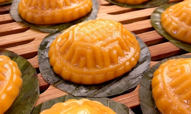 Orange Sweet Potato Angku Kuih (Peanut Filling)