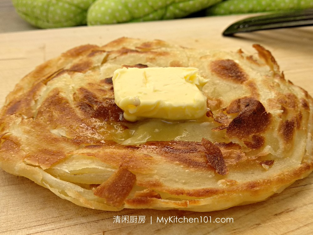 Layered Paratha (Roti Canai, Flatbread)