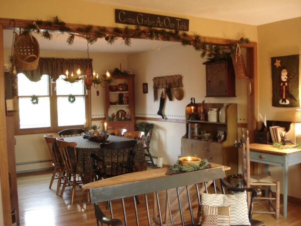 Primitive Kitchen Cabinets For Kitchen With Traditional