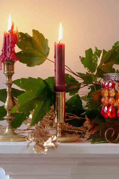 Simple Fall Decor Centerpieces and Mantles