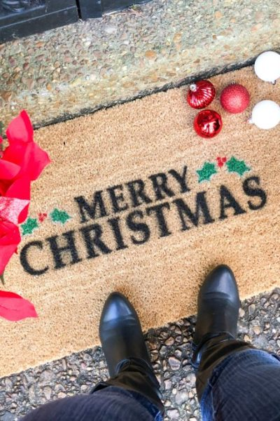 Christmas Doormat DIY