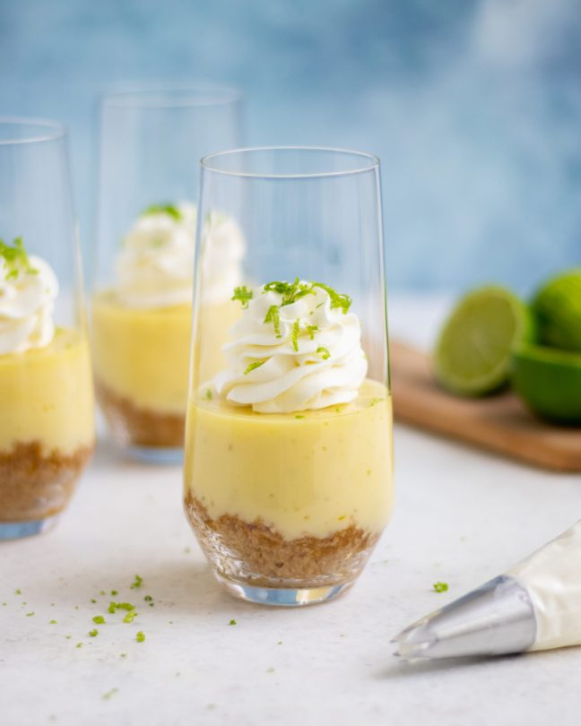 key lime pie i glas