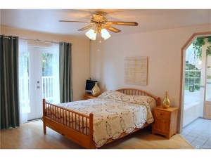 Master Bedroom leads to private balcony