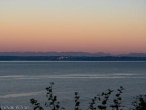 E. View Across Puget Sound of North Beach and Blue Ridge Neighborhoods in Seattle