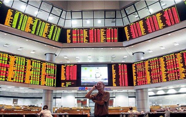 Bursa merosot sejak darurat tanda keyakinan pelabur menurun
