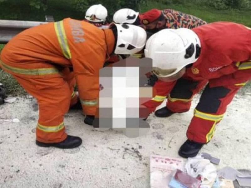 Lelaki maut motosikal ditunggang terbakar