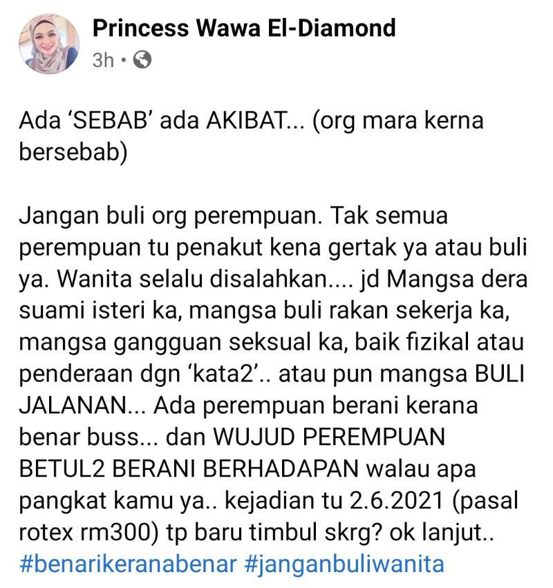 Wawa Wahid Enterprise - berang saman 'road tax'.