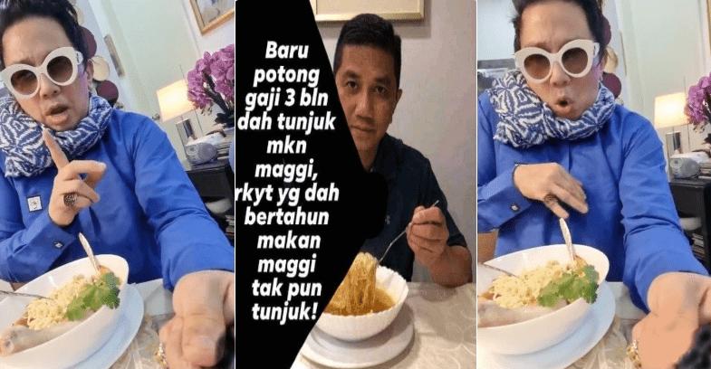 Diva AA Balun Abangnya Makan Maggie Kosong -'3 Bulan Potong Gaji Dah MENGGELUPUR!'