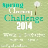 Spring Cleaning Challenge 2014: Week 1 Declutter