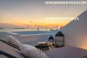 Villa D Angelo Sunset Penthouse by the wind mills - mykonos services - rent villa mykonos 500