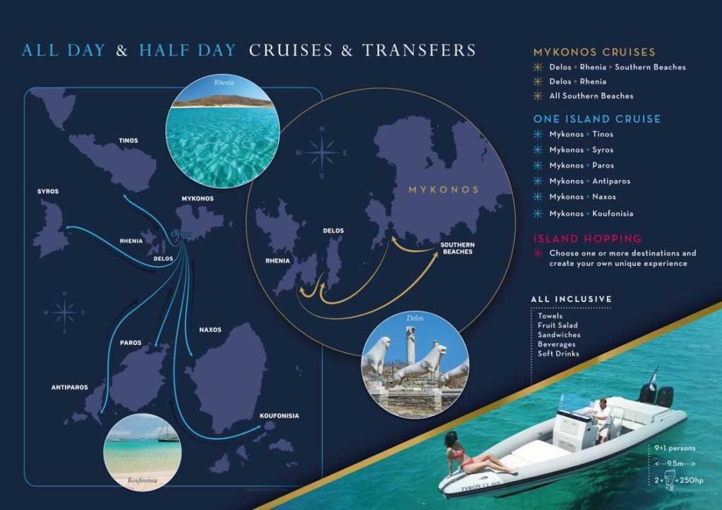mykonos cruises - mykonos boats