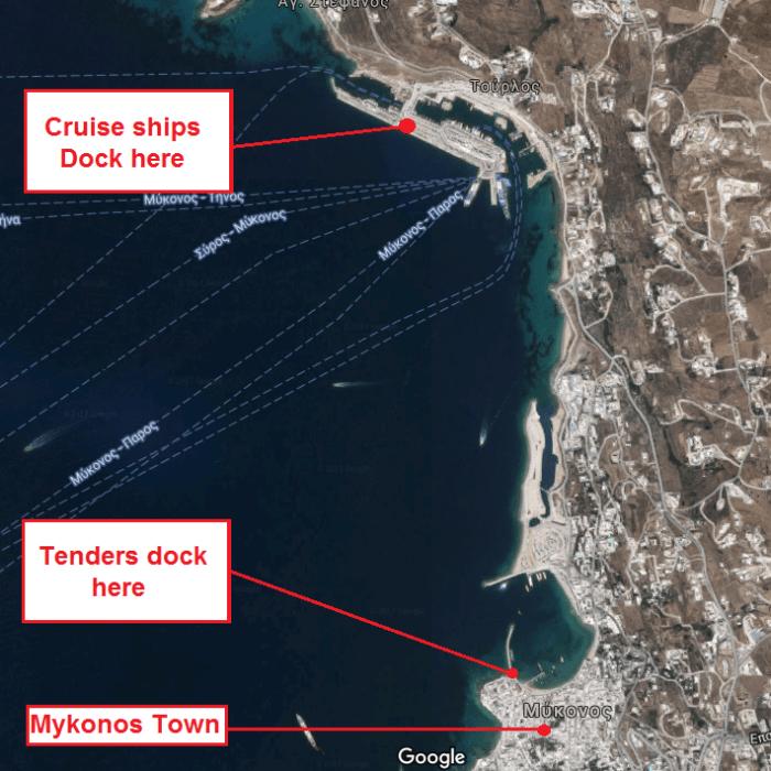Mykonos ports