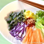 Bibim Myun 비빔면 (Spicy Noodles w Vegetables)
