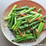 Maneul Jjong Bokkeum 마늘쫑볶음 (Stir-Fried Garlic Scapes)