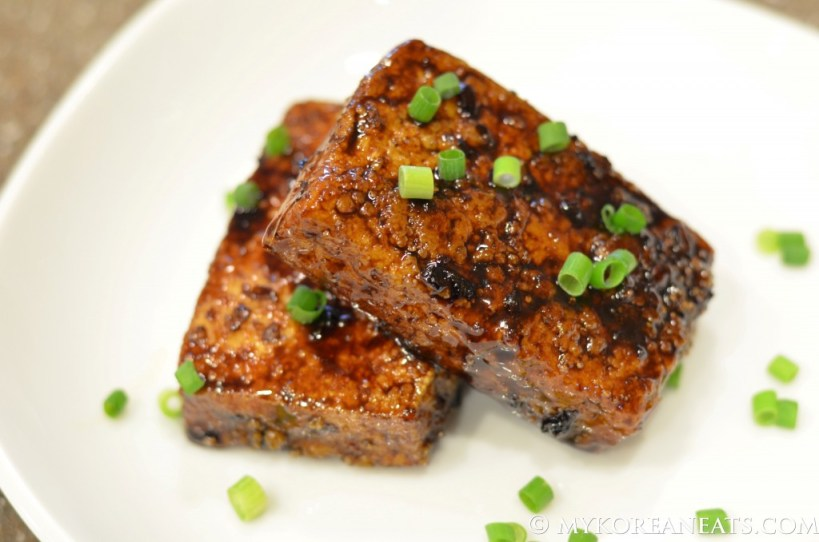 Crunchy Fried Tofu w Asian Glaze