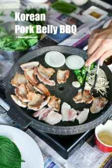 Korean Pork Belly BBQ   MyKoreanKitchen.com