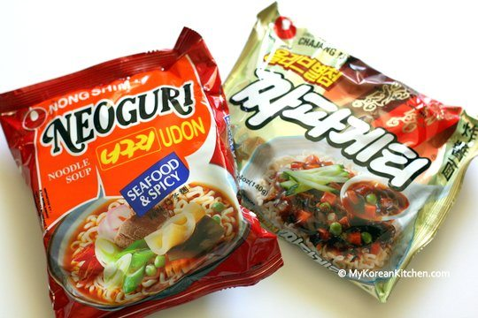 Jjapaghetti and Neoguri Noodles