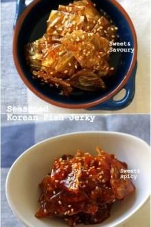 Seasoned Korean Fish Jerky (Jwipo Jorim) | MyKoreanKitchen.com